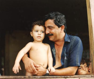 Chico Mendes, assassinated environmentalist with his son Sandino